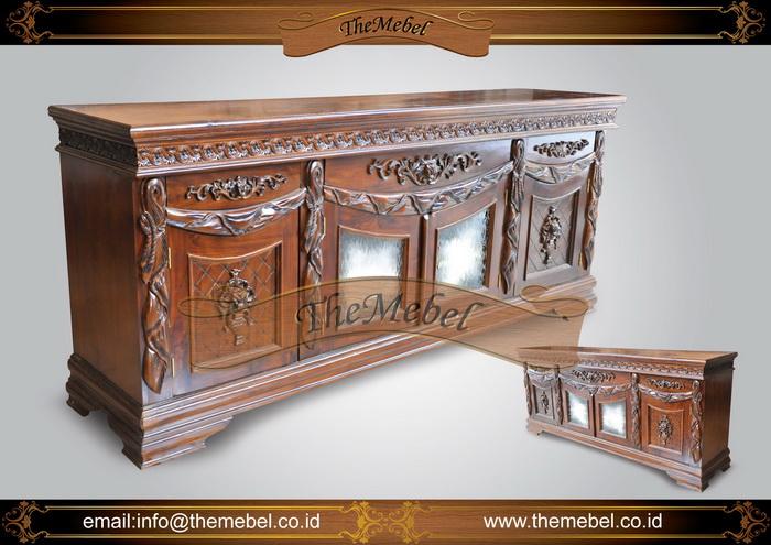 bufet kayu ukir minimalis-003