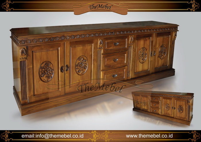 bufet kayu ukir minimalis-004