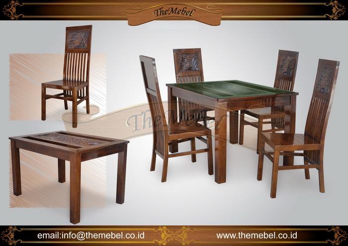 set meja makan minimalis 4 kursi 009