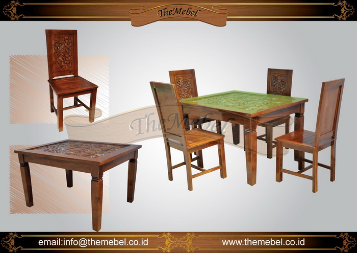 set meja makan minimalis 4 kursi 010