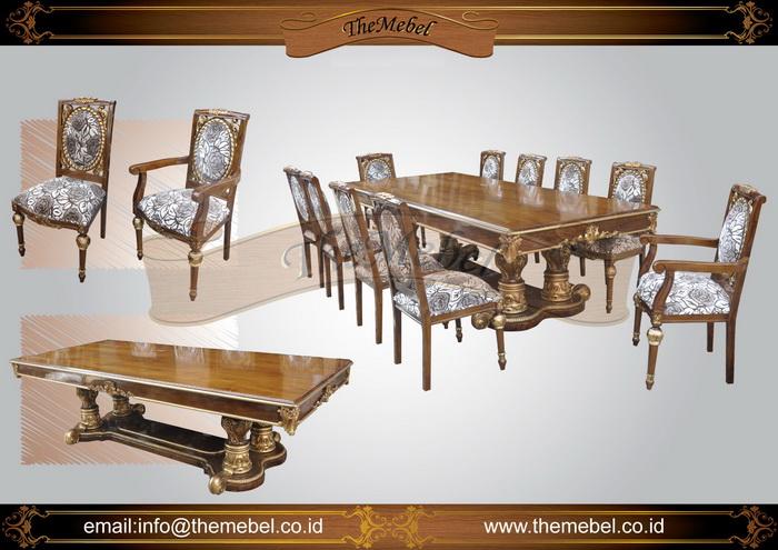 set meja makan ukiran 10 kursi 001