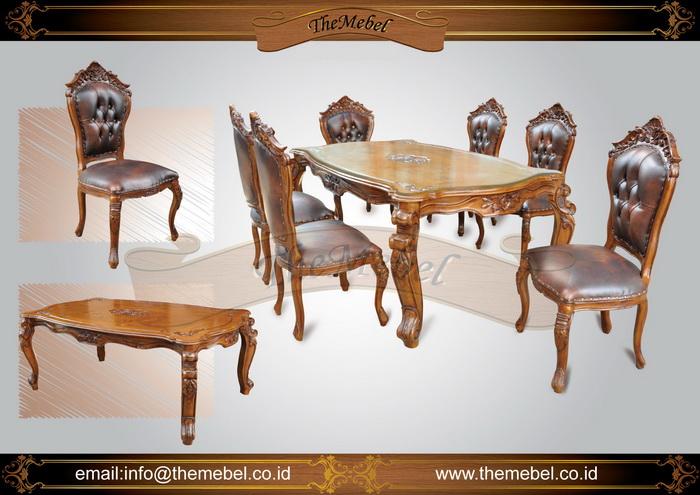set meja makan ukiran 6 kursi 001