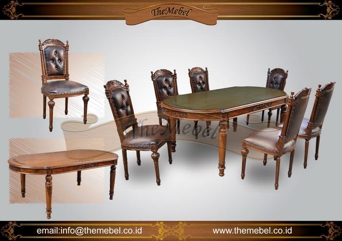 set meja makan ukiran 6 kursi 003