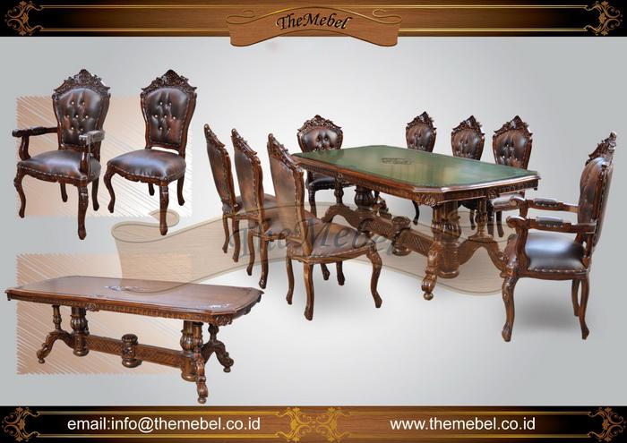 set meja makan ukiran 8 kursi 001