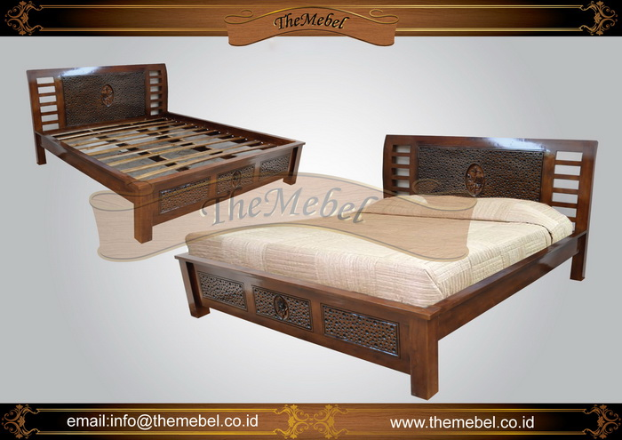 tempat tidur kayu jati minimalis-006