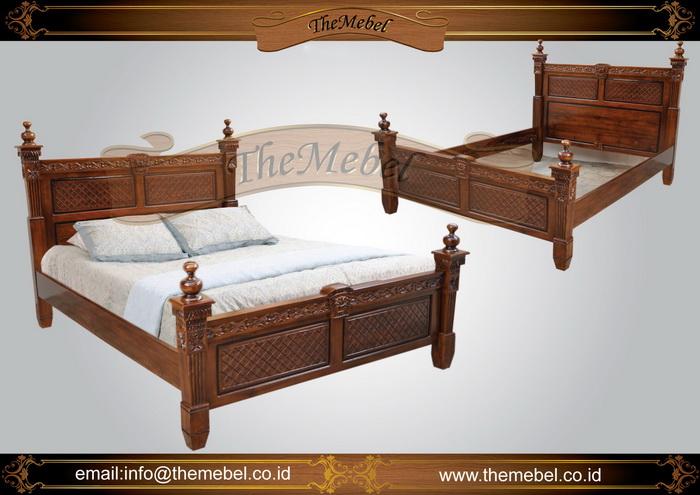 tempat tidur kayu jati minimalis-007