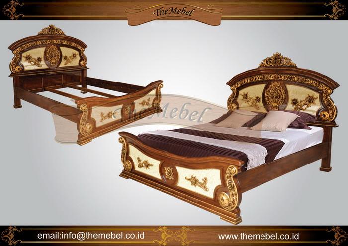 tempat tidur kayu jati ukir-008