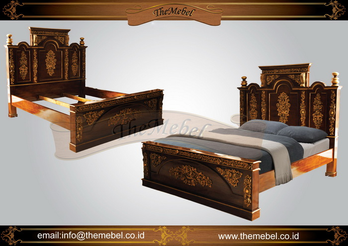 tempat tidur kayu jati ukir-009