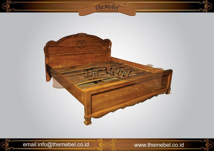 tempat tidur kayu jati-051